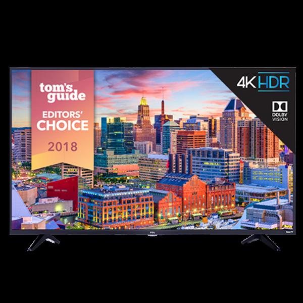 2018 Model TCL 65-Inch 4K Ultra HD HDR Roku Smart LED TV in Black