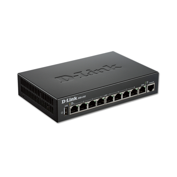 D-Link 8-Port Gigabit VPN Router with Dynamic Web Content Filtering DSR-250